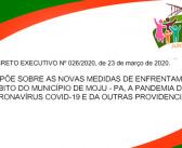 DECRETO EXECUTIVO Nº 026/2020, de 23 de março de 2020.