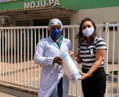 Prefeitura de Moju recebe doação de viseiras de proteção, que serão encaminhadas aos profissionais da saúde.