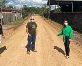 OBRAS: Prefeita Nilma Lima fiscaliza obras de terraplanagem no Distrito Nova Vida-Sococo