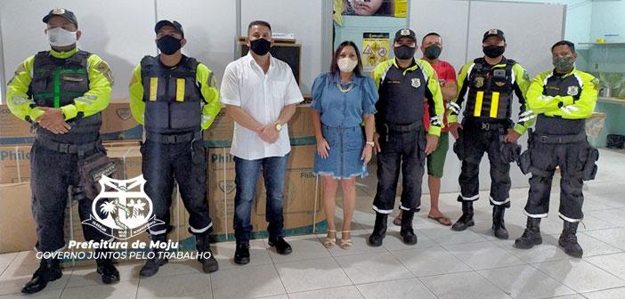 Prefeita Nilma Lima, entregou novos equipamentos para o DEMUTRAN.