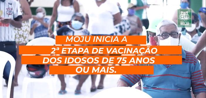 A Prefeitura de Moju, deu continuidade à vacinação contra a Covid-19, em idosos acima de 75 anos na cidade.