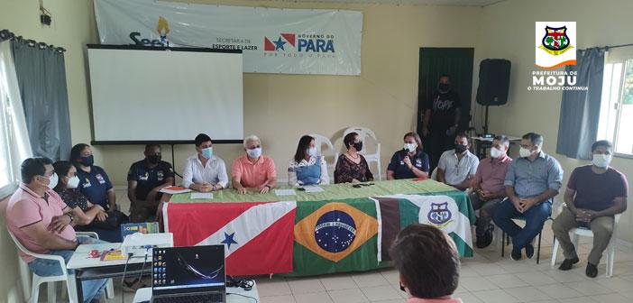 Prefeitura de Moju em parceria com a Secretaria de Estado de Esporte e Lazer – SEEL, realiza Curso de Capacitação e Formação Continuada do Programa Talentos Esportivos SEEL.